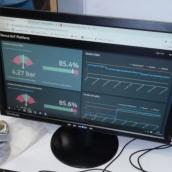 Dashboard de visualización de datos Klipfolio
