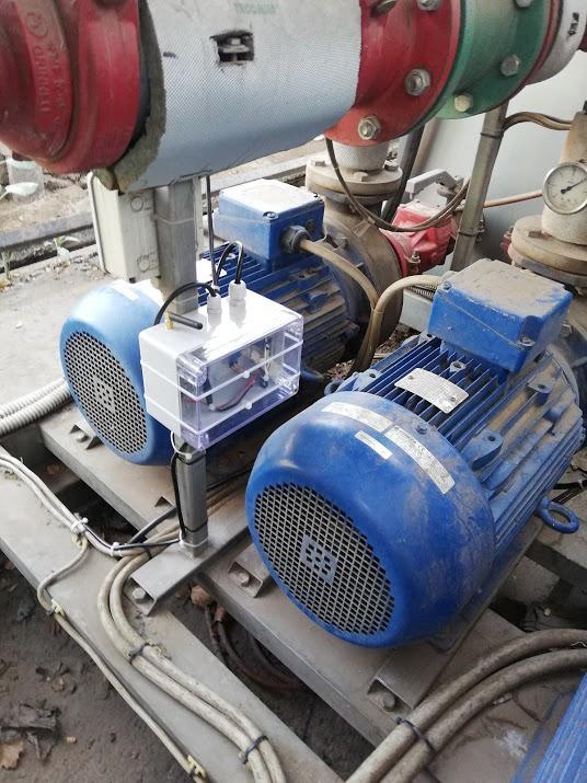 Sensor de corriente funcionando en planta