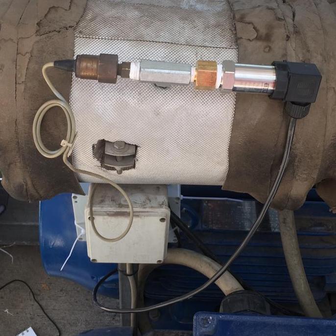 Sensor de presión instalado en planta